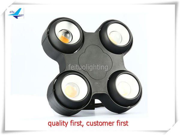 free shipping 6pcs/lot Warm White Color COB 4X10W LED Blinder Light IP65 Outdoor Audience Strobe Effect Lights 4 Eyes Stage Wash