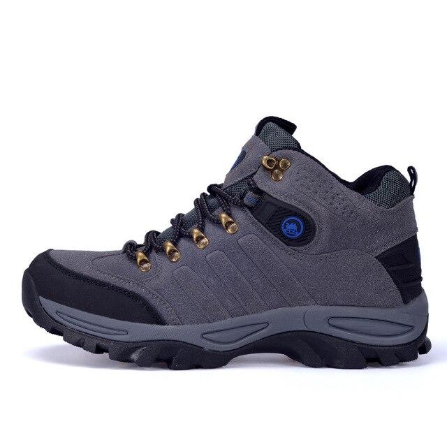 Los hombres Al Aire Libre Zapatos de Escalada Botas de Trekking de Los Hombres de Moda Transpirable Zapatos Casuales Impermeables Botas de Nieve Antideslizantes 2017 Otoño Invierno