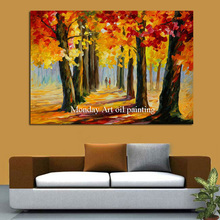 HandPainted Painting Canvas Home Decor landscape Autumn leave Oil Painting for Living Room Wall Art Modern Art Abstract Picture цена