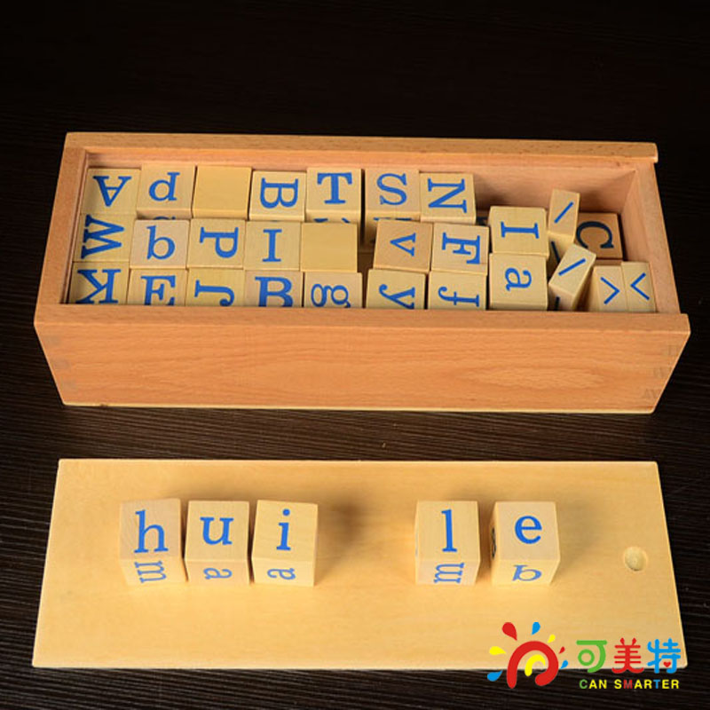 Montessori Education Chinese Pinyin  Beech Wood Language Toys  Early educational toys Can Smarter Free Shipping montessori education global block beech wood square box drawer sensory toys early educational toys can smarter free shipping
