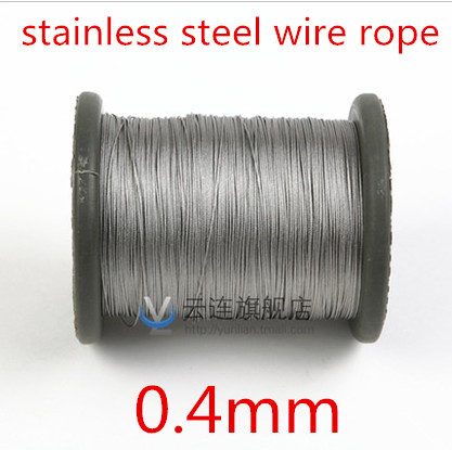 100meter/lot 0.4mm  Roll High Tensile Stainless Steel Wire Rope 7X7 Structure