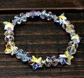 Brand New 2015 luxury jewelry pure handmade  DIY Genuine Austria crystal pentastar bracelet for women birthday gift