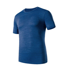 Спортивная мужская быстросохнущая одежда большого размера с коротким рукавом, дышащая свободная футболка для тренировок на открытом воздухе, фитнеса, футболка для бега