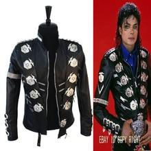 Редкие МД Майкл Джексон классический Плохой куртка с Серебряный Орел значки панк Matel точно же высокой моды Коллекция Показать подарок