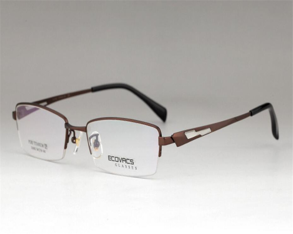 Eyelook Business Men Pure Titanium Half Rim Gold Silver Presbyopia Eyewear Spectacle Optical Reading Eyeglasses Zm2062 With The Most Up-To-Date Equipment And Techniques Men's Glasses