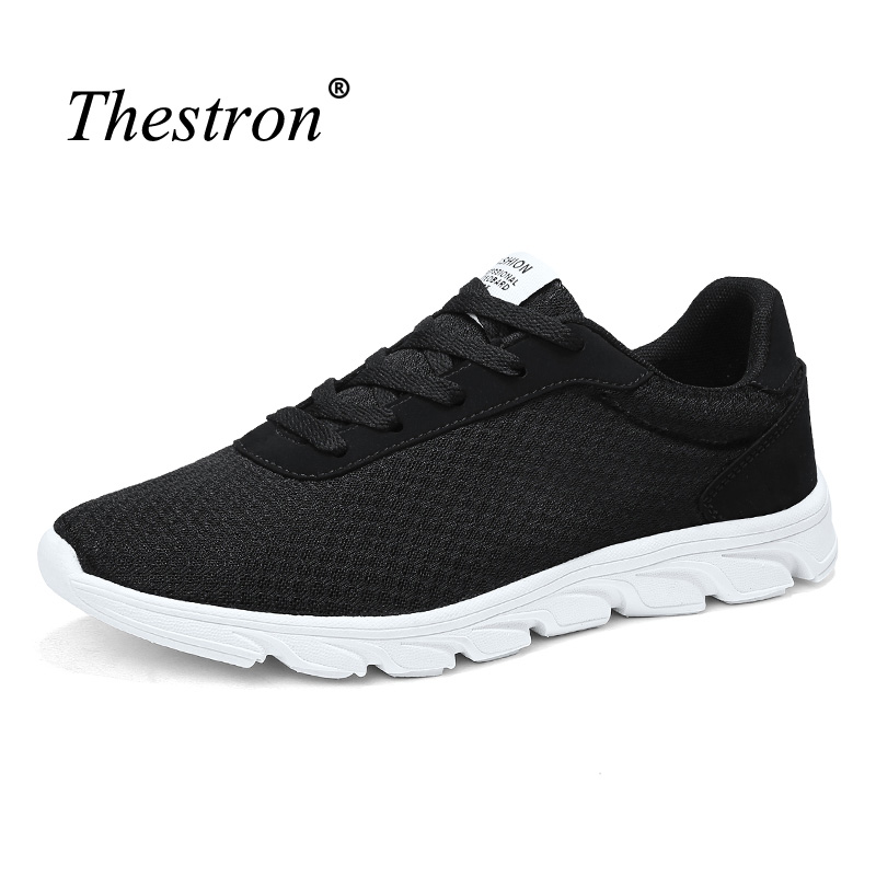 Man Running Shoes Black Gray Sports Shoes for Male Breathable Jogging Shoes Men Comfortable Lace Up Outdoor Footwear Male