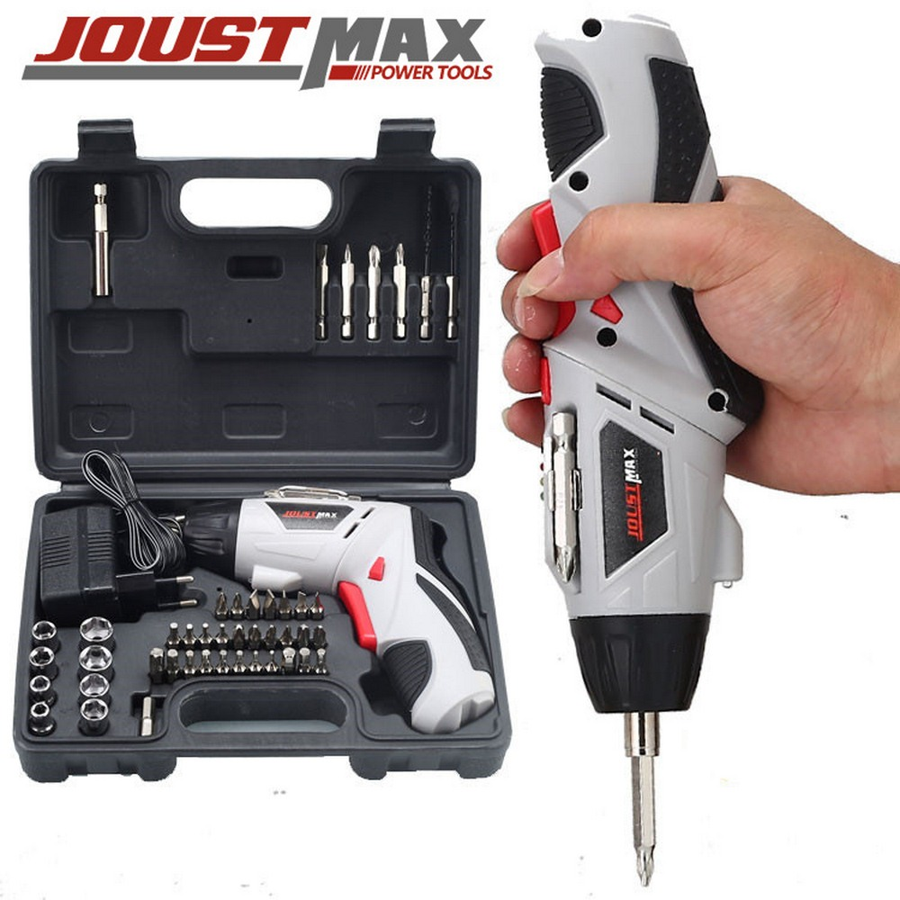 Multi-function Electric Screwdriver Cordless Drill With 45 Bits 180 Degree Rotation Power Tools  Electric Drill Set