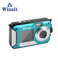 Winait 24MP Waterproof Digital Video Camera Dual Display 16x Digital Zoom Mini Camera Free Shipping