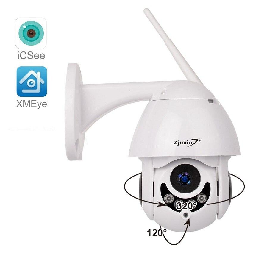Zjuxin 1080 P HD 2MP PTZ WIFI IP Caméra Extérieure IR Étanche Vitesse Dôme H.264 Onvif sans fil Surveillance caméra de sécurité CCTV