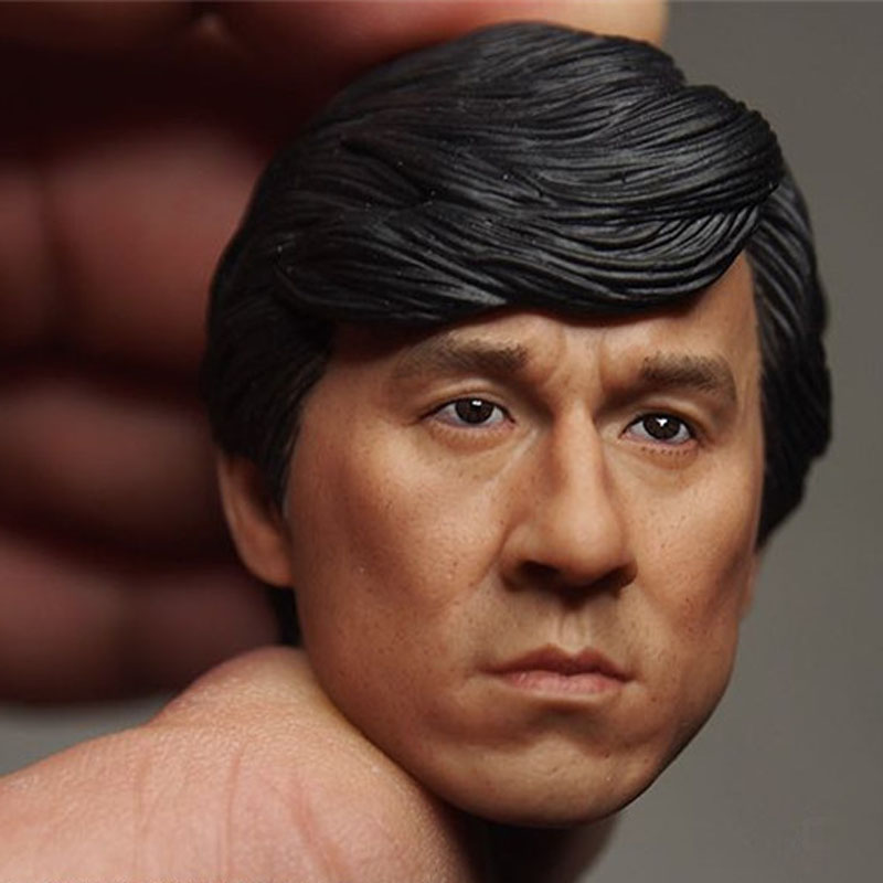 Mnotht Head Sculpt Jackie Chan Head Carving I KNOW WHO I AM TV Asian Famous Star Head Model For 12in Figures l30 mnotht 1 6 male solider new clown head carving mj12 top edition heath ledger head sculpt for 12in action figures l30