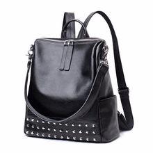 купить Fashion Design Women Backpack High Quality Leather Youths Backpacks for Teenage Girls Female School Shoulder Bag Bagpack mochila по цене 2630.65 рублей