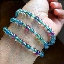 Hot Sale Color fluorite bracelets ice cream hand string cute jewelry beauty bracelet women gifts for girl purple natural stone
