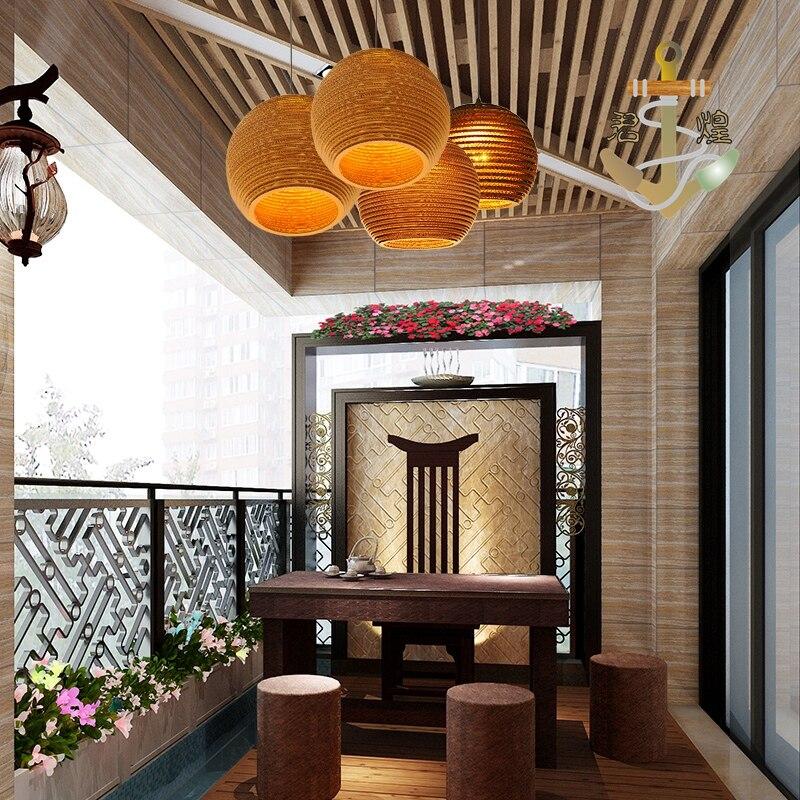 Petite ville rétro lustre hôtel Der Bar nid d'abeille nu pupa café personnalisé en cuir carton lustre ZH GY187