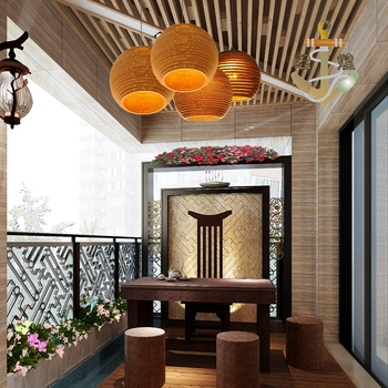 Small town retro chandelier Hotel Der Bar honeycomb naked pupa cafe personalized leather cardboard Chandelier ZH GY187