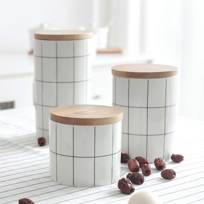 حار الشمال نمط شاي أبيض صندوق تخزين الشاي الجرار أسطواني السيراميك برطمان للحلوى الغذاء الحاويات جودة المطبخ التوابل صندوق تخزين
