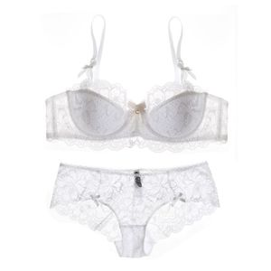 Image 5 - Big size Intimates 70 85 ABCD cup Euramerican transparent sexy women bra set ultrathin push up young ladies underwear sets