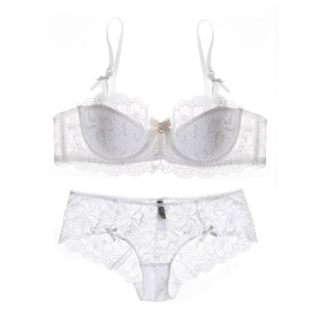 Big size Intimates 70-85 ABCD cup Euramerican transparent sexy women bra set ultrathin push up young ladies underwear sets