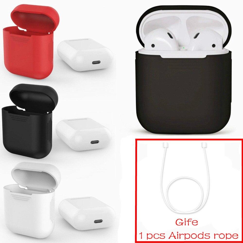 Pour Apple AirPods Cas Silicone Shock Protector Preuve Manches Couverture De Peau pour AirPods Vrai Sans Fil Écouteur