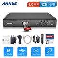 ANNKE 1080 P 4CH НВР Сетевой Видеорегистратор Поддерживает до 4x1080 P (2MP/3MP/4MP/5MP/6MP) wi-fi Ip-камеры с 1 ТБ Жесткий Диск