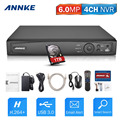 ANNKE 1080P 4CH NVR Network Video Recorder Supports up to 4 x 1080P( 2MP/3MP/4MP/5MP/6MP) WiFi IP Cameras with 1TB Hard Drive