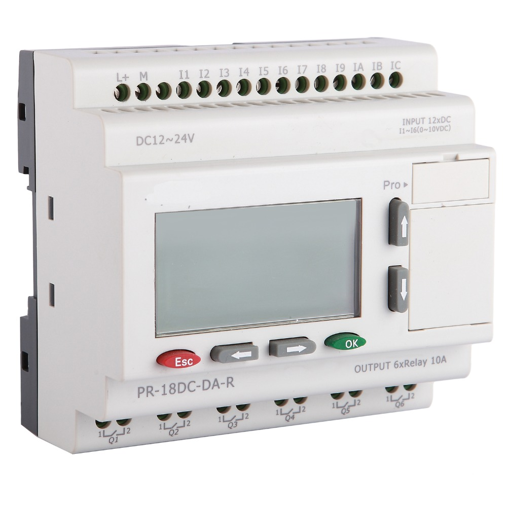 PR-18DC-DA-R with LCD, without cable Programmable logic controller,smart relay,Micro PLC controller , CE ROHS цена