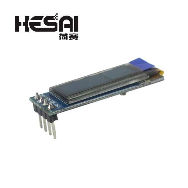 0.91 inch 12832 white and blue color 128X32 OLED LCD LED Display Module 0.91 IIC Communicate for arduino Diy Kit 1
