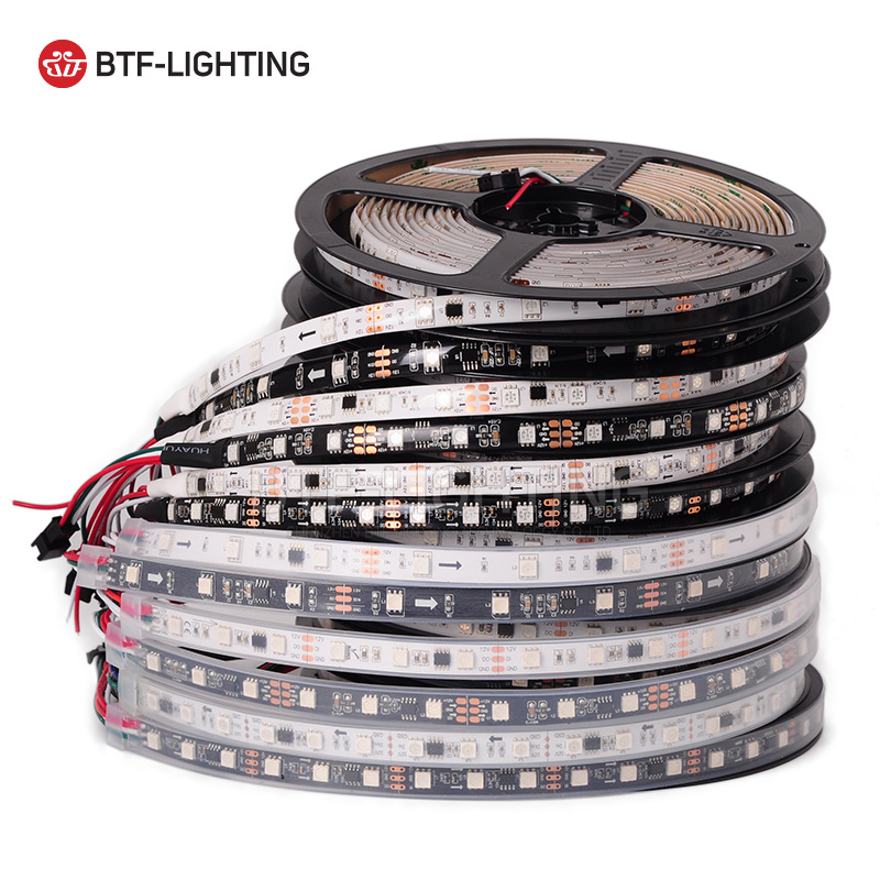 WS2811 5050 SMD RGB Strip Addressable 30/48/60leds/m Led Pixels External 1 ic control 3 Leds Normal/Bright 5m/roll 16.5ft DC12V осциллятор 48 5032 osc 48 000mhz 5 3 2 48 m 4 p smd