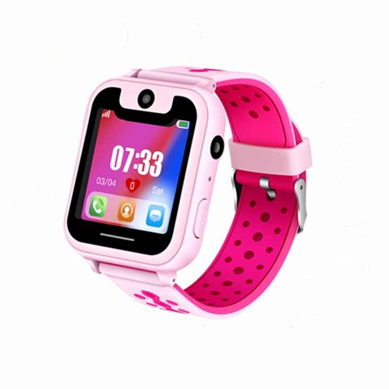"Kids watch GPS tracker watches 2018 New HD 1.54"" Touch Screen camera SOS Call back SIM Location Device Children smart watches S6"