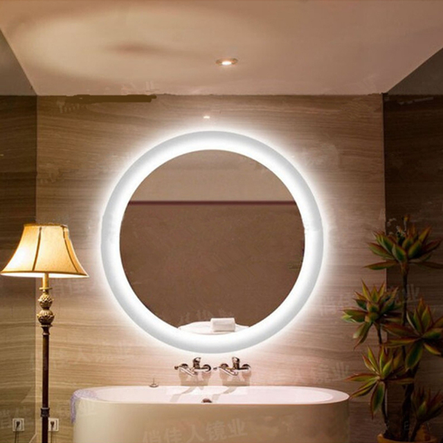 Mirrors with Light for Makeup Round Mirror Lamp Bathroom led Wall ...