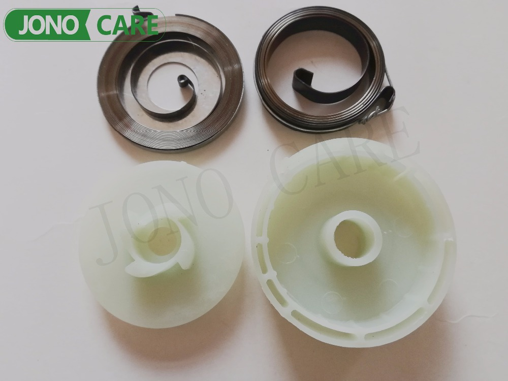 EASY STARTER PULLEY & SPRING SET CHINESE CHAINSAW 4500 5200 5800 45CC 52CC 58CC 45cc 52cc 58cc chainsaw clutch replacement for poulan 4500 5200 5800 chain saw parts accessory