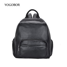 YOGOBOR brand 2017 new small fashion solid letter rucksack high quality women shopping package ladies famous designer travel bag