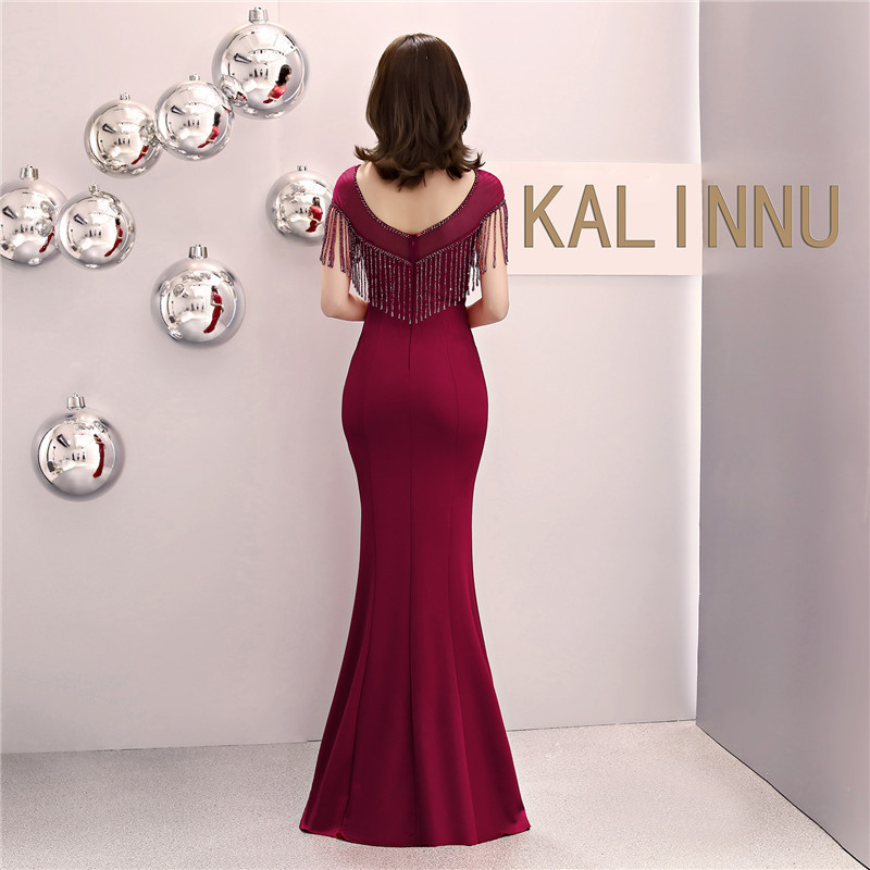 Dower Me Mermaid Dress Women Sexy 2019 Bodycon Crystal Short Sleeve Dresses Summer O Neck Party Vestido Floor Length Dress C084 in Dresses from Women 39 s Clothing