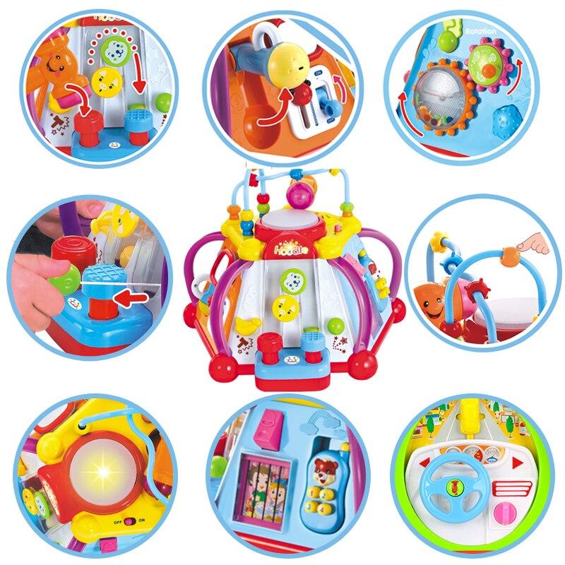 HOLA 806 bébé jouets activité musicale Cube jouet apprentissage jeu éducatif jouer Center jouet avec lumières et sons jouets pour enfants