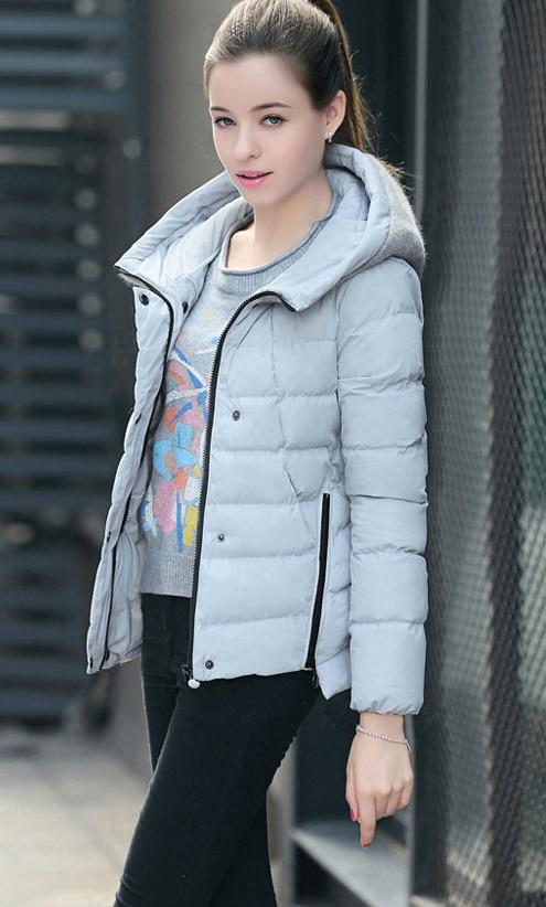 À black Femmes Survêtement Vestes Lx167 Épais Coton Gray Automne Bas Le Parka Slim Veste Vers 2018 Hiver Rembourré Capuchon Chaud Manteaux Court pink qTfAEwBO