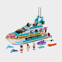 41015 618pcs Friends Series Large Yacht Club Cruise Ships Model Building Block Set Bricks Toys For