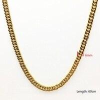 6mm personalizado 24 pulgadas curb cubano gold filled collar mens Niños promoción alta calidad regalo de la joyería