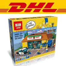 In Stock New LEPIN 16004 2232Pcs Simpsone KWIK-E-MART Model set Building Kits Model Minifigure Compatible With  71016