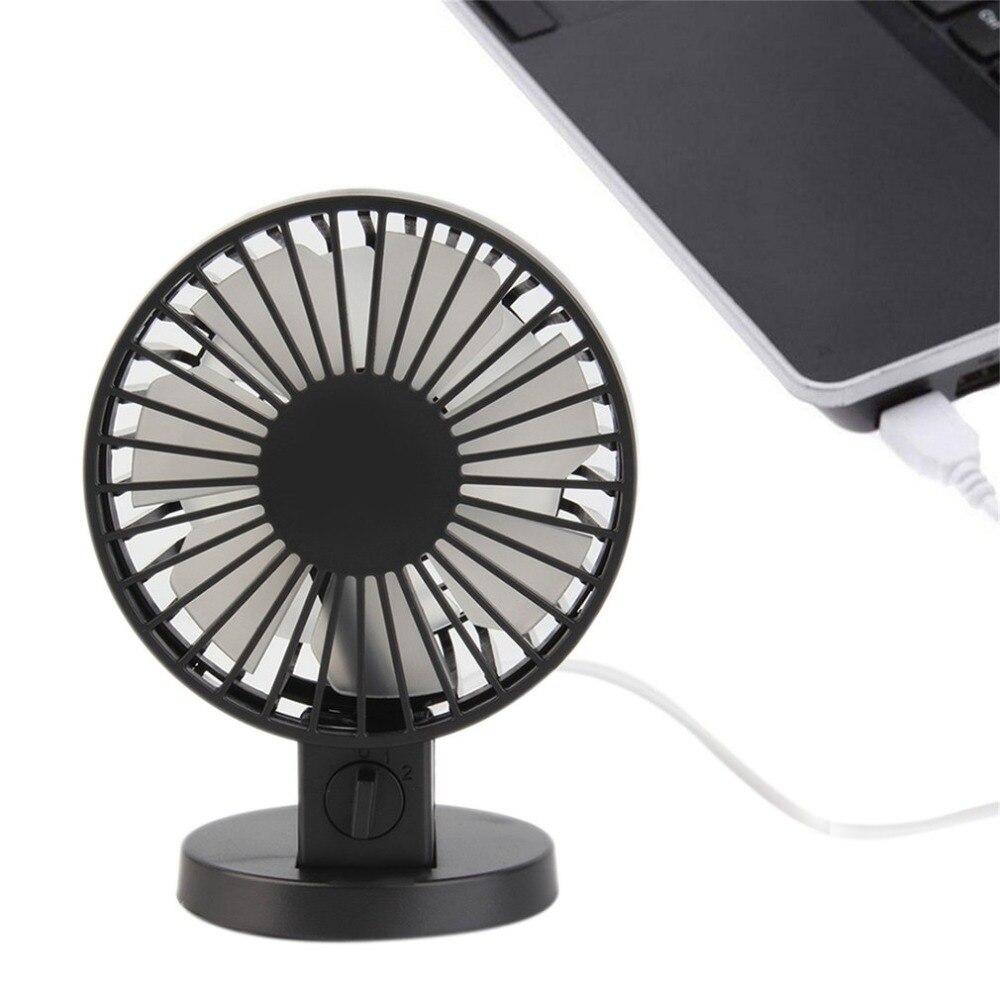 Creative Double-vane Mini USB Fan For Office Home Portable Computer PC Fan Electric Laptop Fan With Double Side Fan Blades Black laptop fan