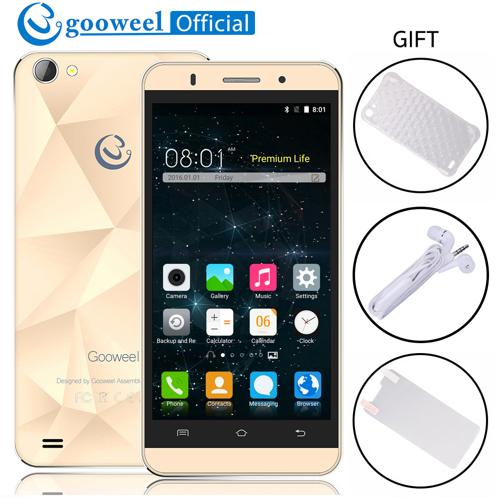 Original Gooweel M5 Pro Smartphone MTK6580 Quad core 5 inch IPS Screen Mobile Phone Andr ...