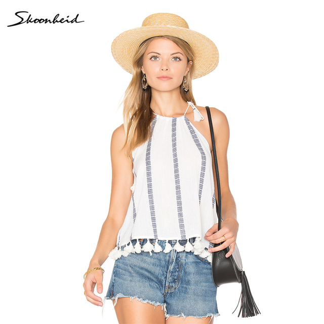 b61ea7c33a Women Summer White Tassel Drawstring Neck Embroidered Camis Tops Blouse Casual  Beach Tank Top Shirt Camisole