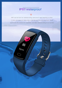 Image 5 - Smart band bracelet Heart Rate monitor Fitness Tracker blood pressure waterproof sports smart watch for andriod ios fashion Hot