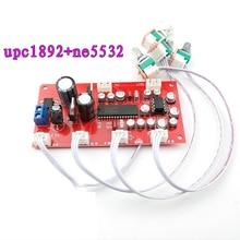 Upc1892ct preamp tone placa pré amplificador ne5532tone controle potenciômetro separação dupla dc 12 v 24 v
