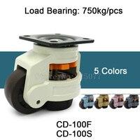 4 шт. выравнивания отрегулировать нейлон Поддержка промышленных Колёсики Колёса cd 100f/s 750 кг для машинного оборудования ролики Колёса jf1599