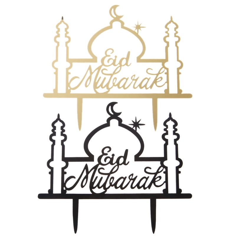 Ramadan Eid  Mubarak festival marking Cake Top Stencil Decorating Fondant Mold