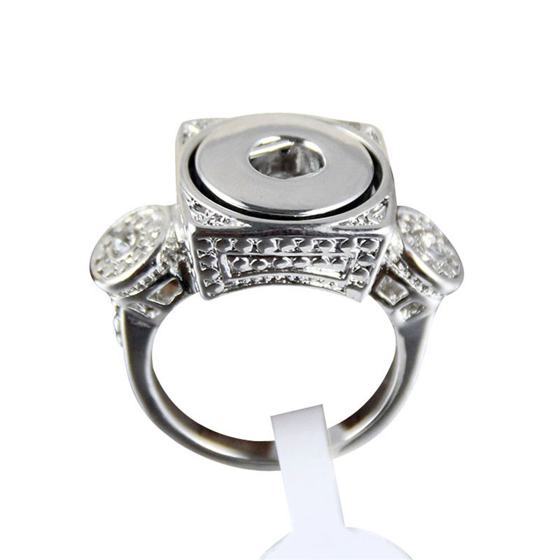 SR12-7 popular fashion street snap Designer DIY matal ring OEM ODM 12mm snap rings button ring 17-19 mm image