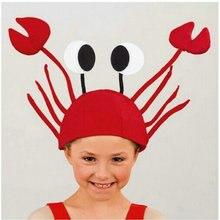 3 d красные крабы шляпа омаров, Рождество, Хэллоуин костюм вечерние аниме косплей, смешной реквизит, костюмы и аксессуары и шляпы
