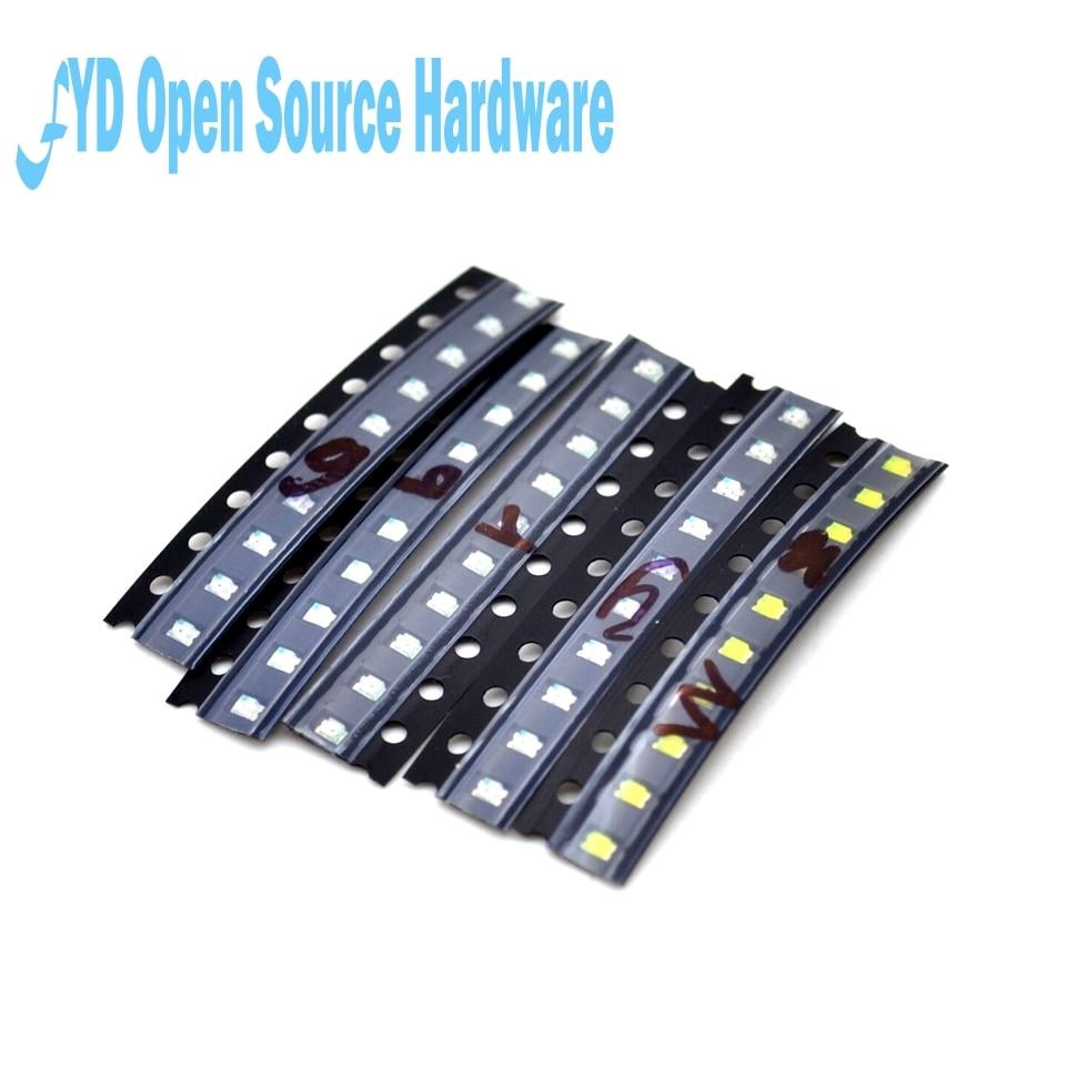 5 colors x20pcs 100pcs SMD 0805 led