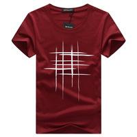 Simple creative design line cross Print cotton   T     Shirts   Men's New Arrival Summer Style Short Sleeve Men   t  -  shirt