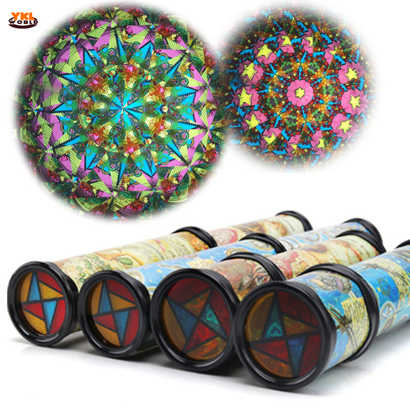 30cm Large Scalable Rotating Kaleidoscopes Extended Rotation Adjustable Fancy Colored World Baby Toy Children Autism Kid