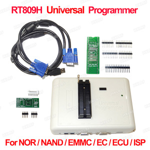 Image 2 - 100% Original RT809H EMMC Nand FLASH  Programmer +55 Items with BGA48 BGA63 BGA64 BGA169 Adapter RT809H EMMC Nand Flash TSOP48